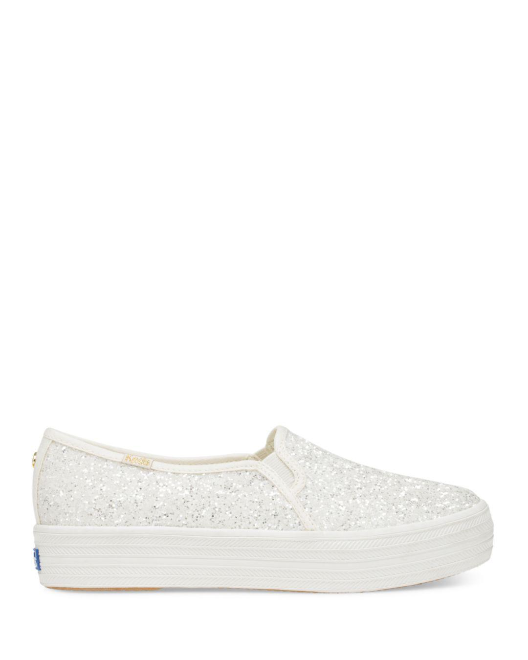 77b4ba53f4fe Lyst - Kate Spade Keds X New York Triple Decker Sneakers in Natural - Save  40%