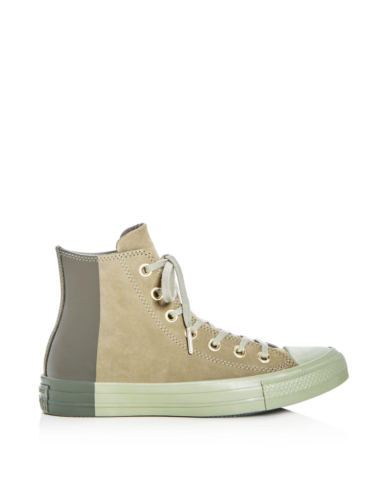 Converse Women's Chuck Taylor All Star Tonal Nubuck Leather High Top Sneakers 2i25N