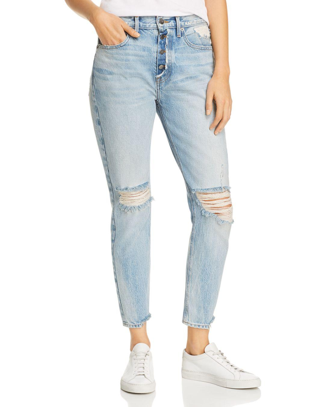 34e695685594 Lyst - FRAME Le Original Rigid Re-release Distressed Skinny Jeans In ...