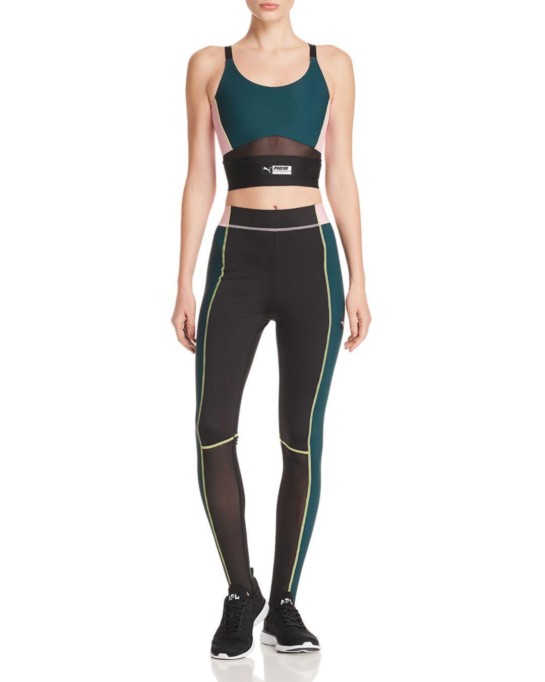 Lyst Puma Color In High Stirrup Leggings Black Tz Rise Block PTZiOukX