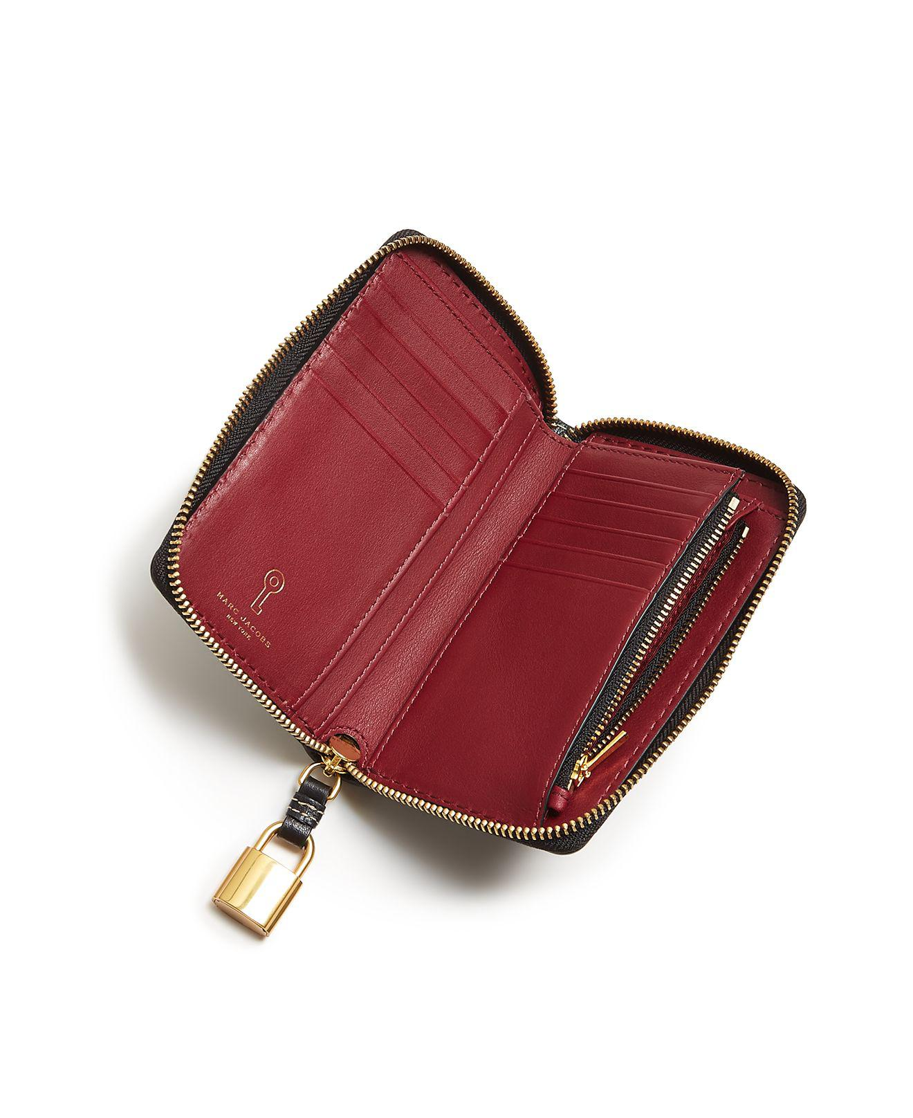 Marc Jacobs The Grind Small Standard Leather Wallet Buy Cheap Fast Delivery 5oLuy