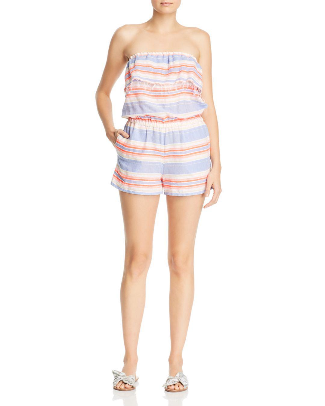 b5b9acddea00 lemlem. Women s Fiesta Strapless Striped Romper