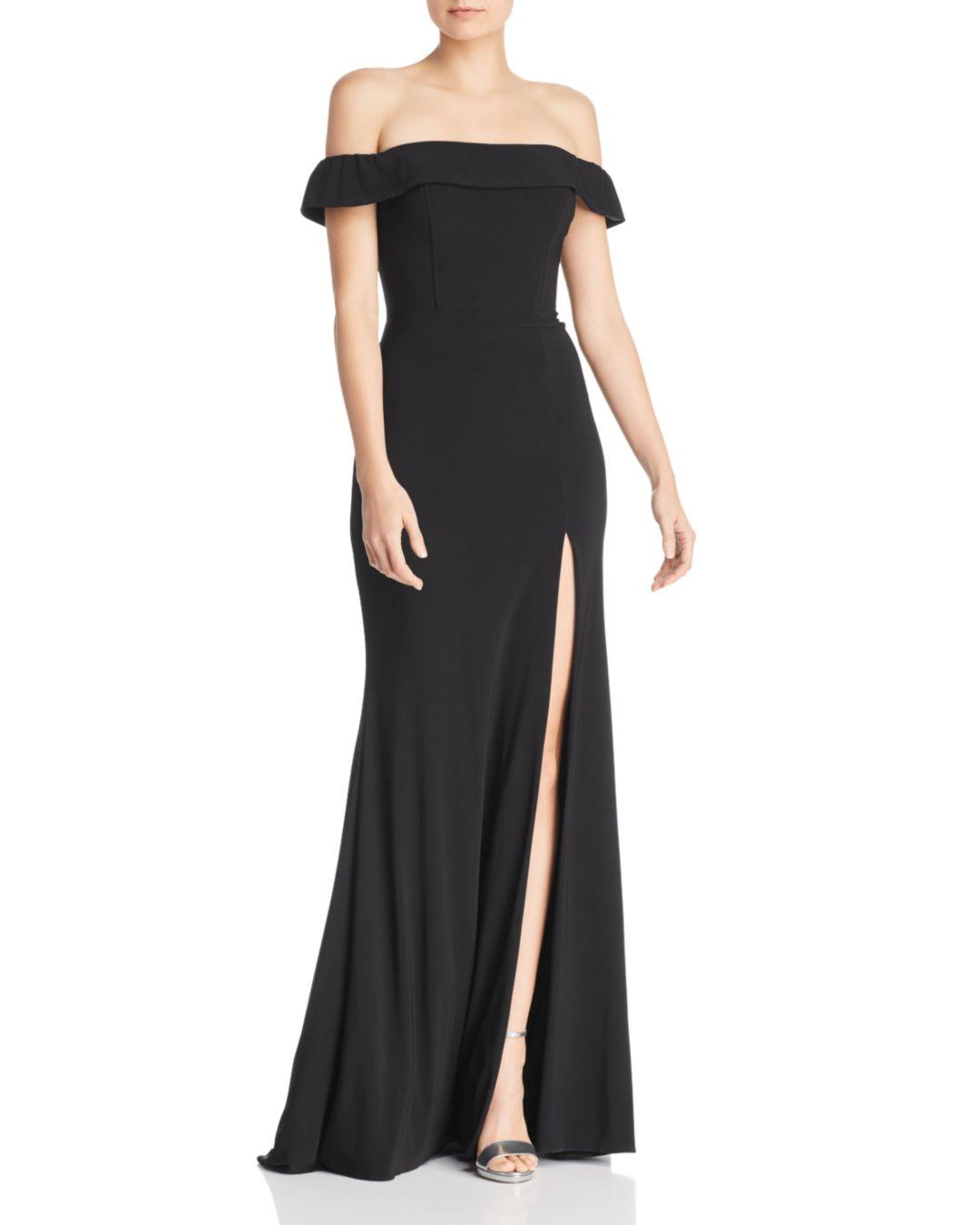 60ca28e0ba8 Lyst - Faviana Couture Off-the-shoulder Gown in Black - Save 1%