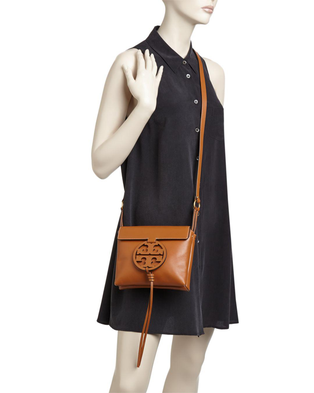 b9b6c4d8673d Lyst - Tory Burch Miller Leather Crossbody in Black - Save 20%
