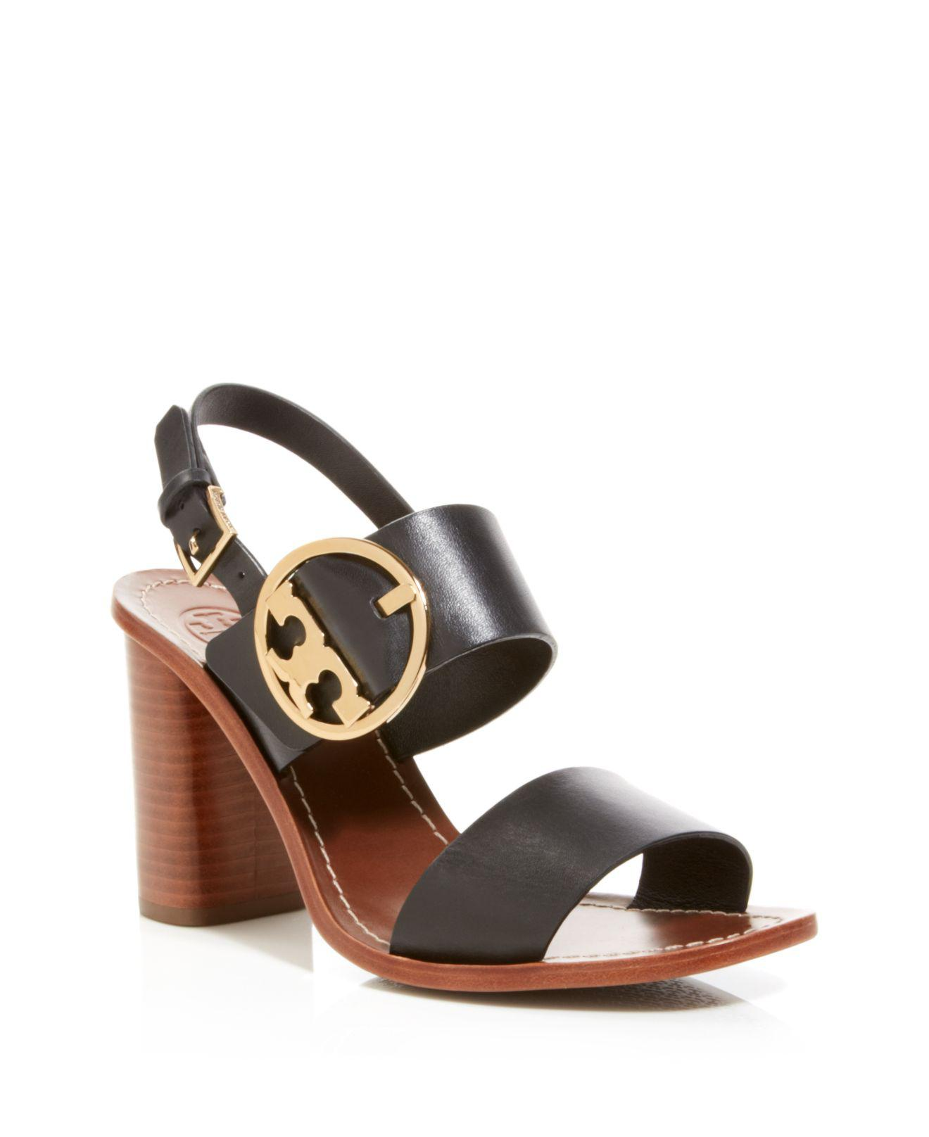 ddce41c794c7 Lyst - Tory Burch Ankle Strap Sandals - Thames Buckle City in Black