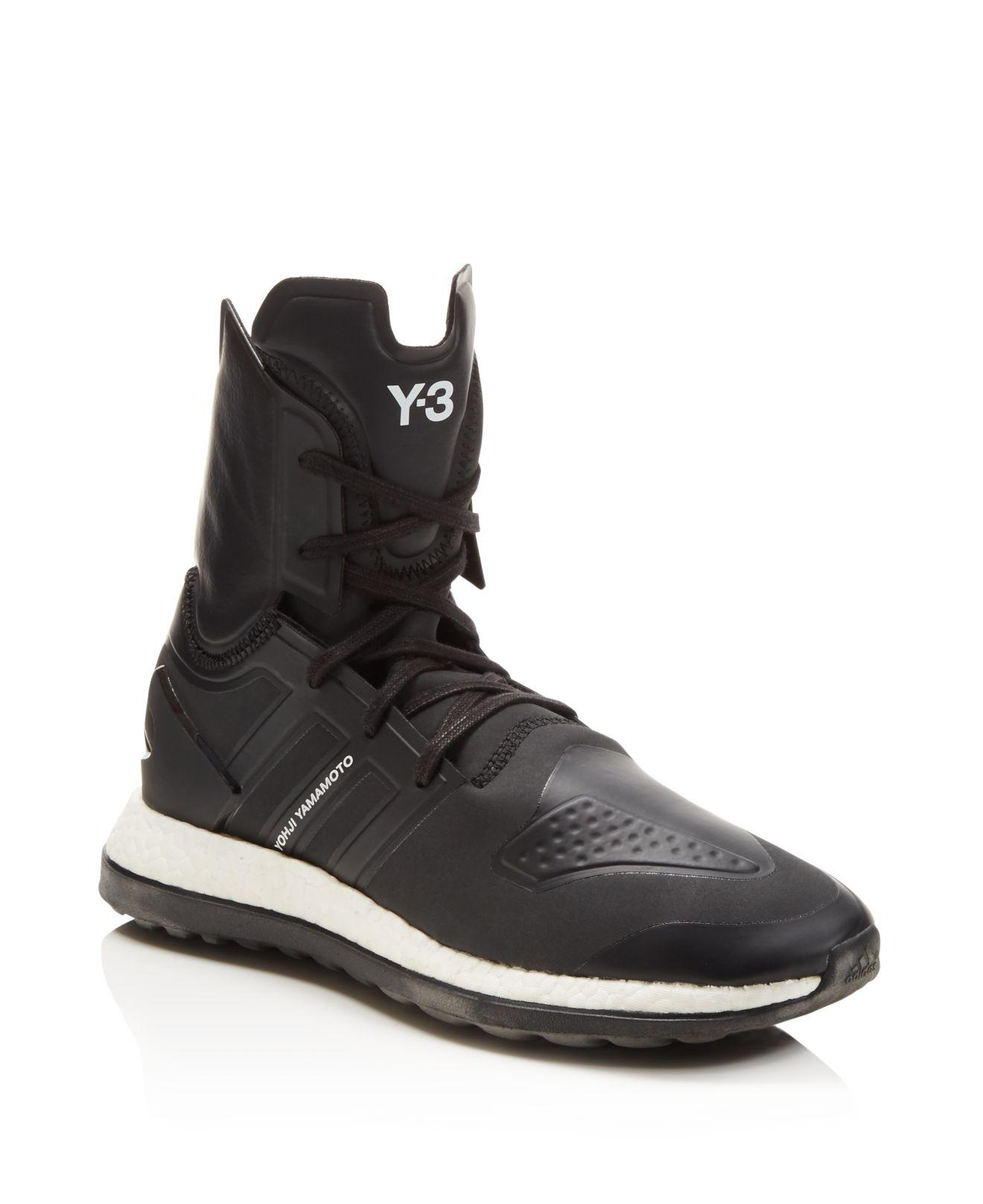 4c2aade860a4 Lyst - Y-3 Pure Boost Zg High Top Sneakers in Black for Men