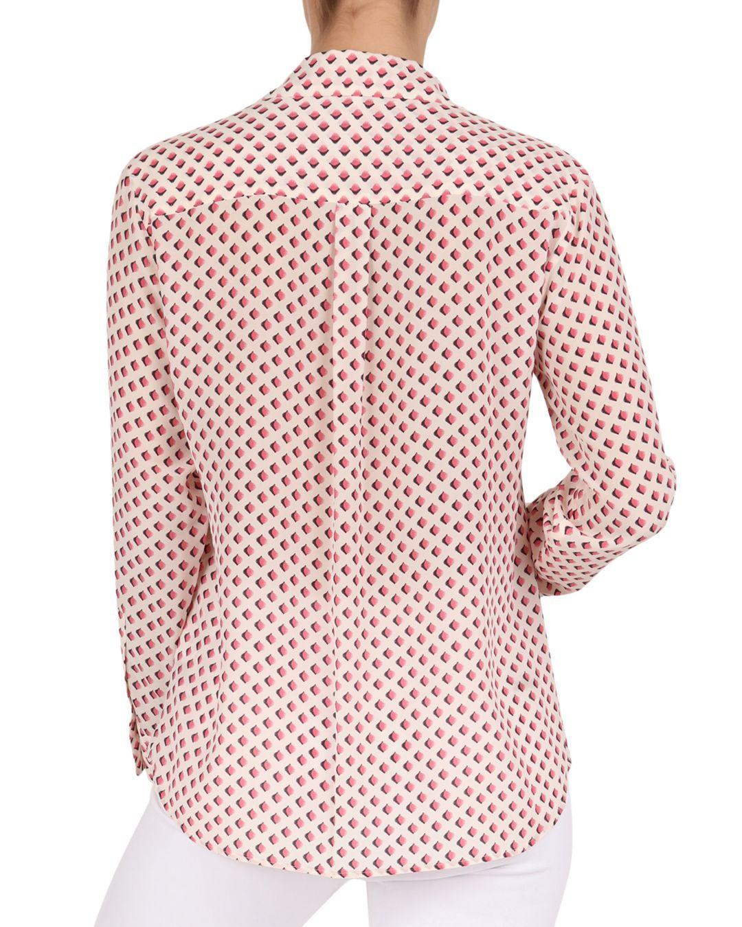 312e55b35a2c Gerard Darel Edy Silk Geo-print Shirt in Pink - Lyst