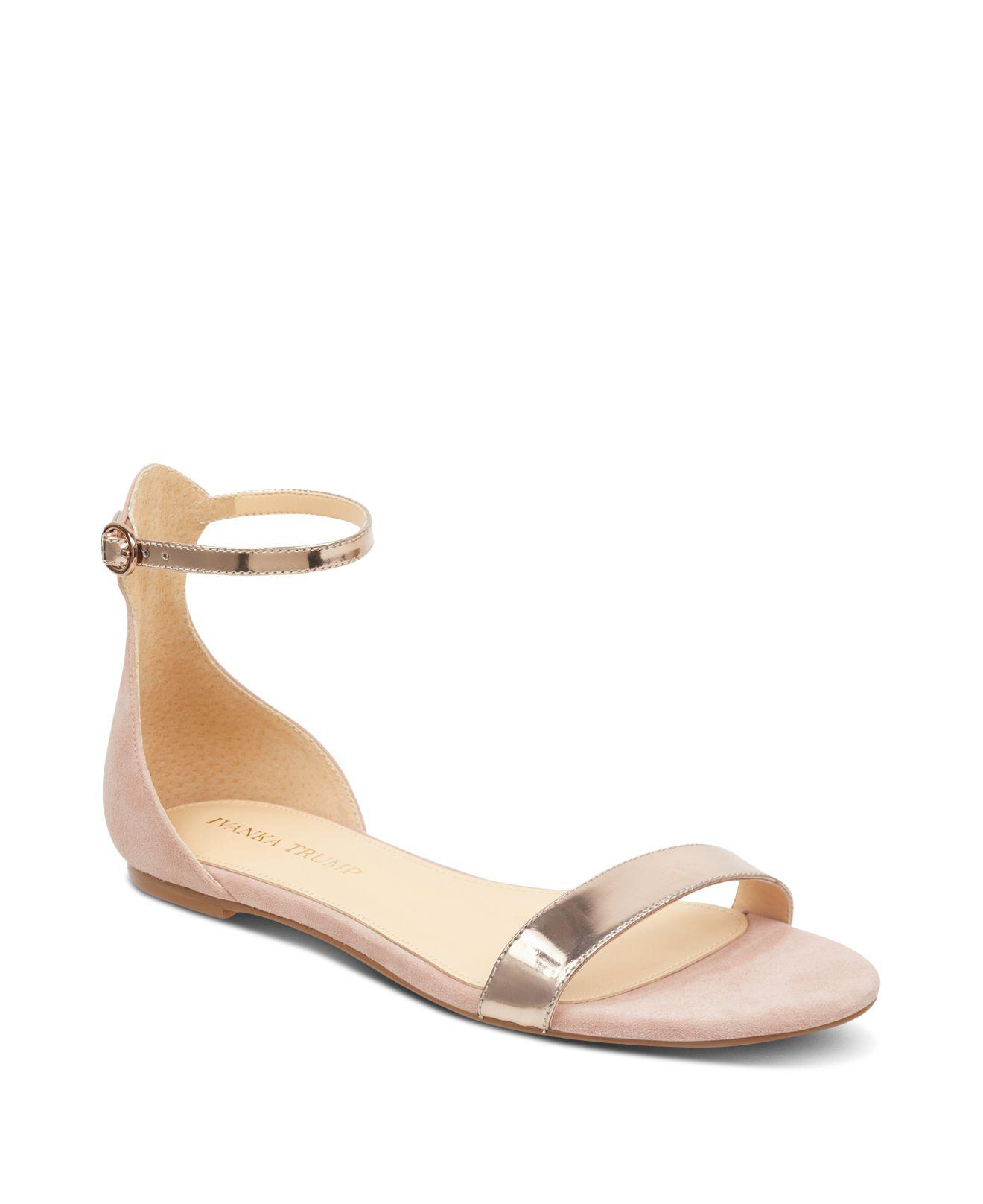 Ivanka Trump Women's Camryn Suede & Patent Leather Ankle Strap Sandals UDr0Sgevb