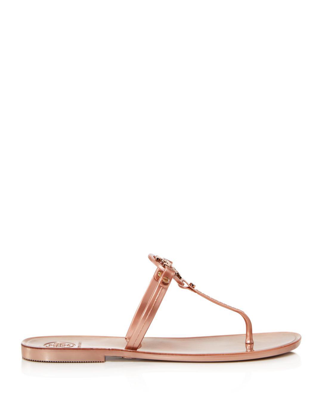 ded05fbf1bc356 Lyst - Tory Burch Mini Miller Jelly Flat Thong Sandals