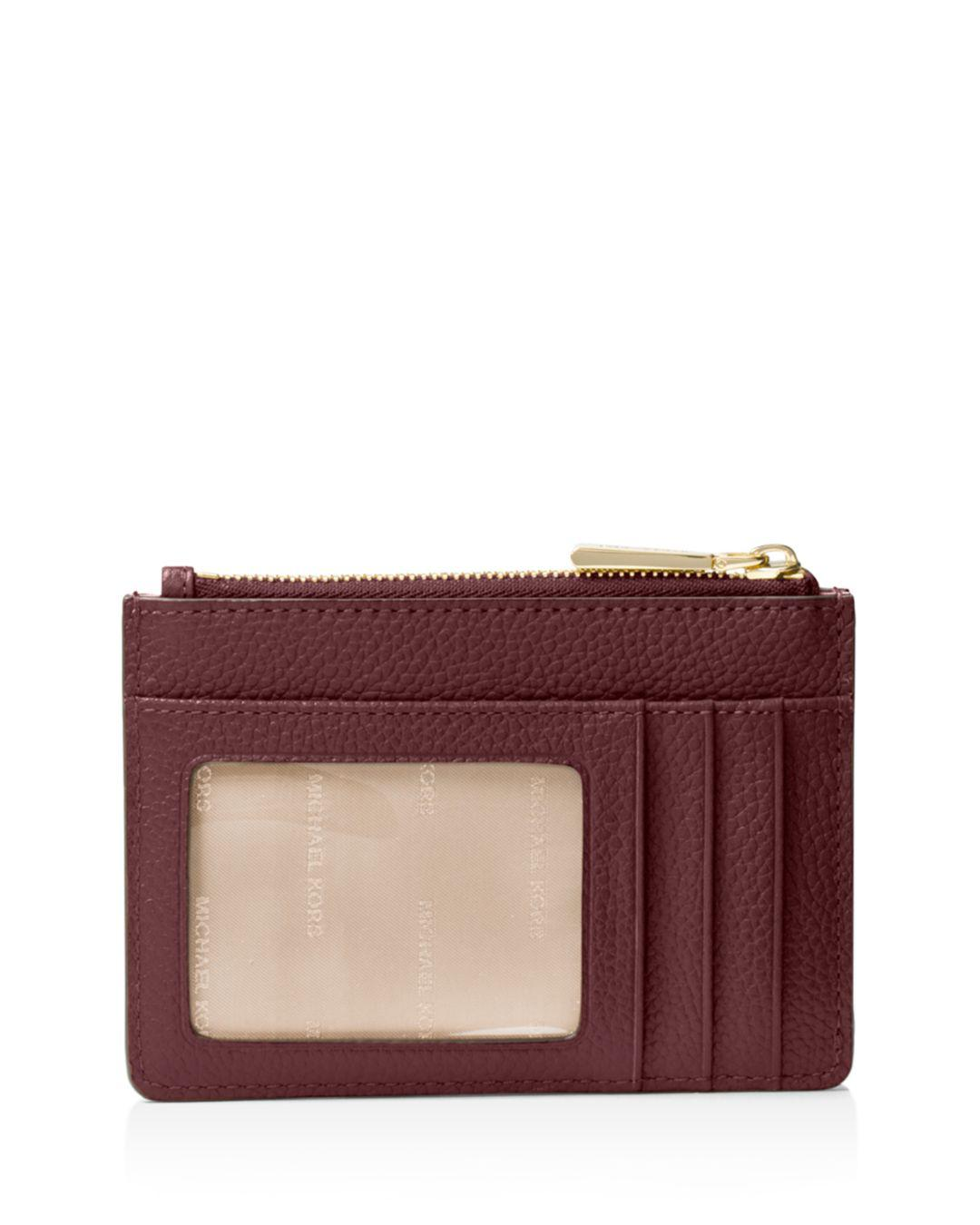 71c46e89e96f Lyst - Michael Michael Kors Small Leather Wristlet in Red