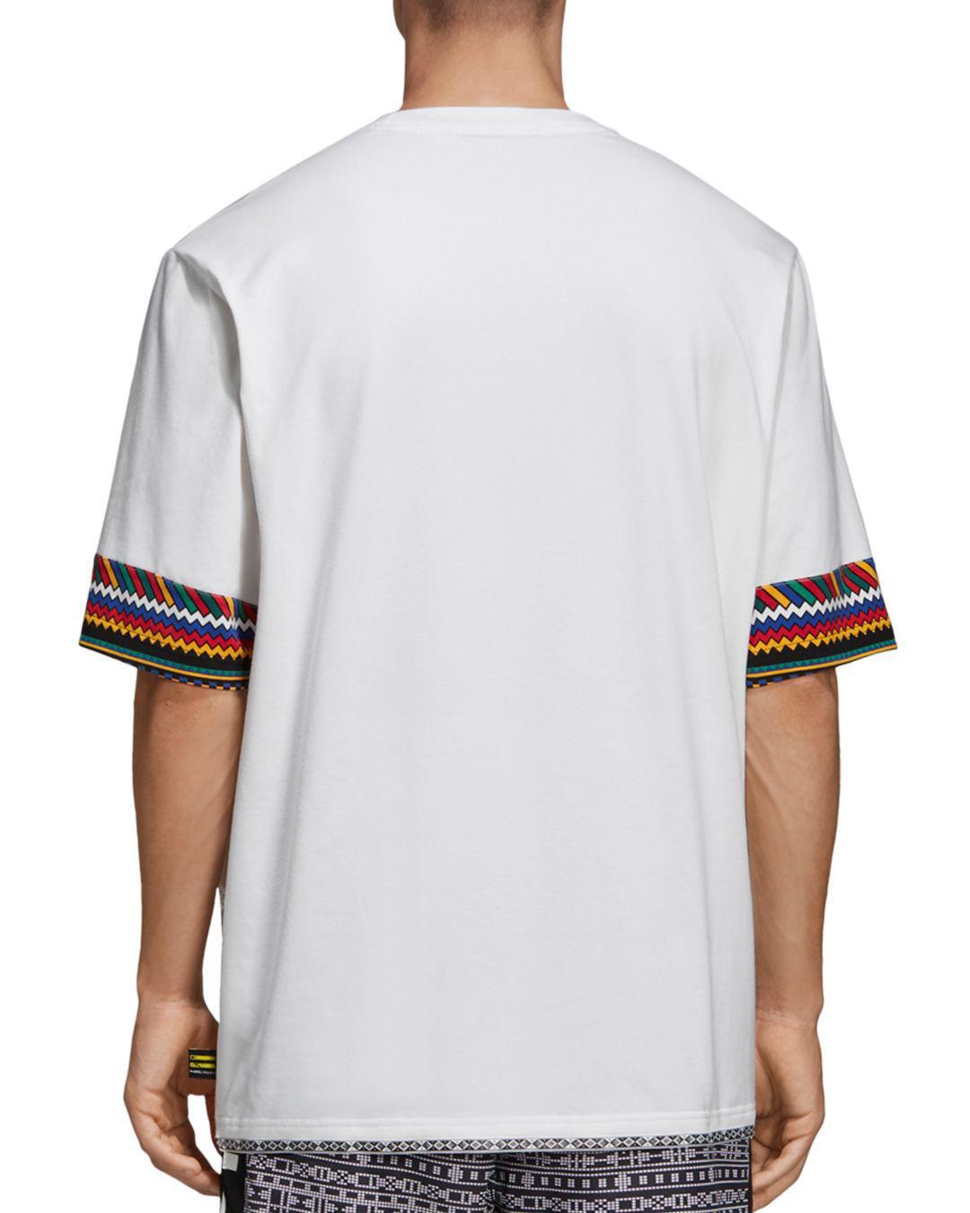8edeb0f325884 Lyst - adidas Originals X Pharrell Williams Solar Hu Trefoil Tee in White  for Men