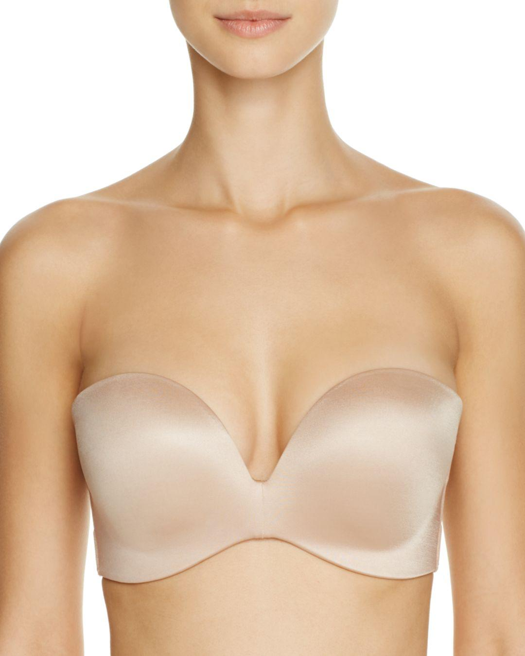 52831e10a1955 Lyst - Fine Lines Refined Wireless Strapless Bra in Natural
