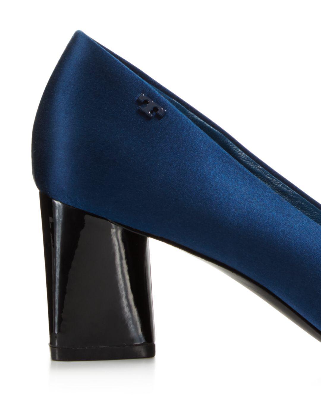 638d33db38d Lyst - Tory Burch Women s Viola Satin Bow High-heel Pumps in Blue