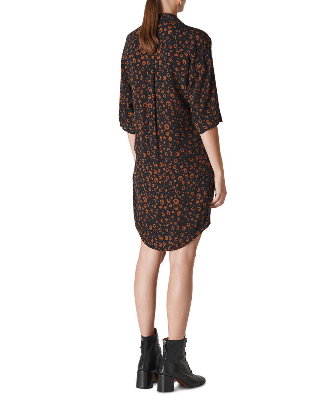 Lyst - Whistles Lola Cheetah-print Dress in Black 74eb4b9db