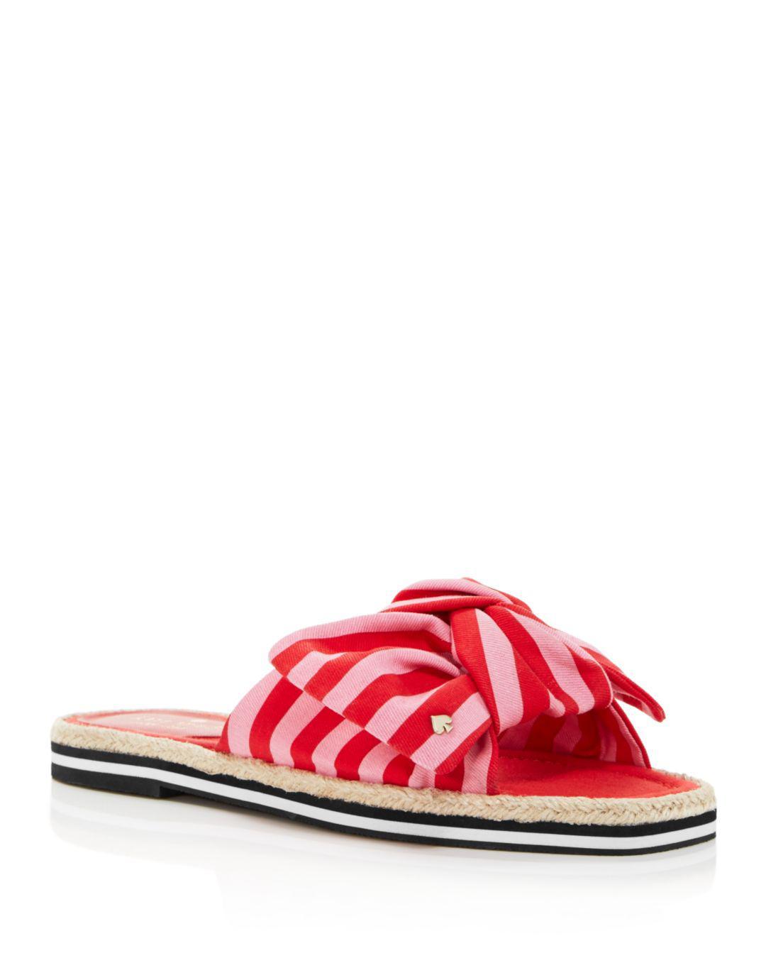 b52e33b5614c Kate Spade Caliana Flat Sandals in Red - Save 26% - Lyst