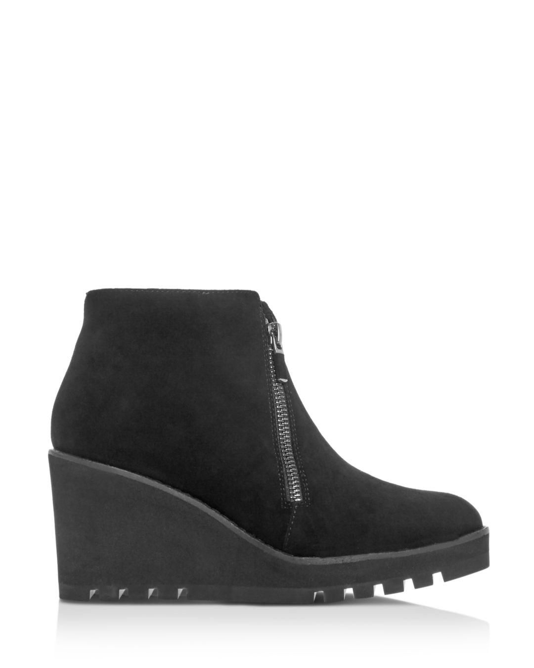 aef7ef416af Lyst - Eileen Fisher Women s Alto Platform Wedge Booties in Black