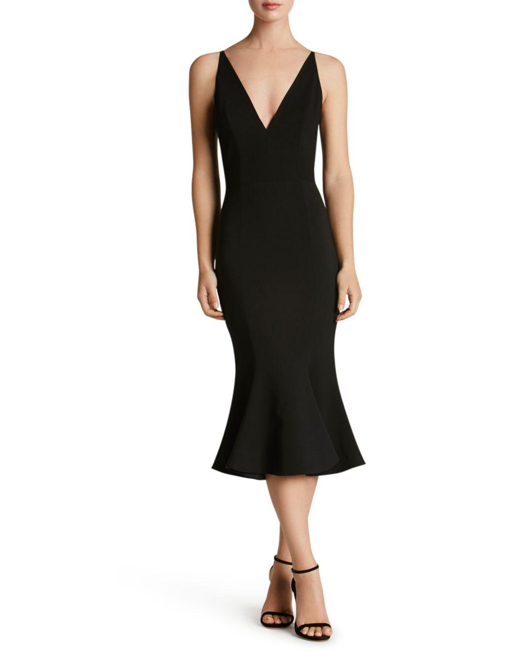1a4603019ee0 Dress the Population Isabelle Mermaid Midi Dress in Black - Lyst