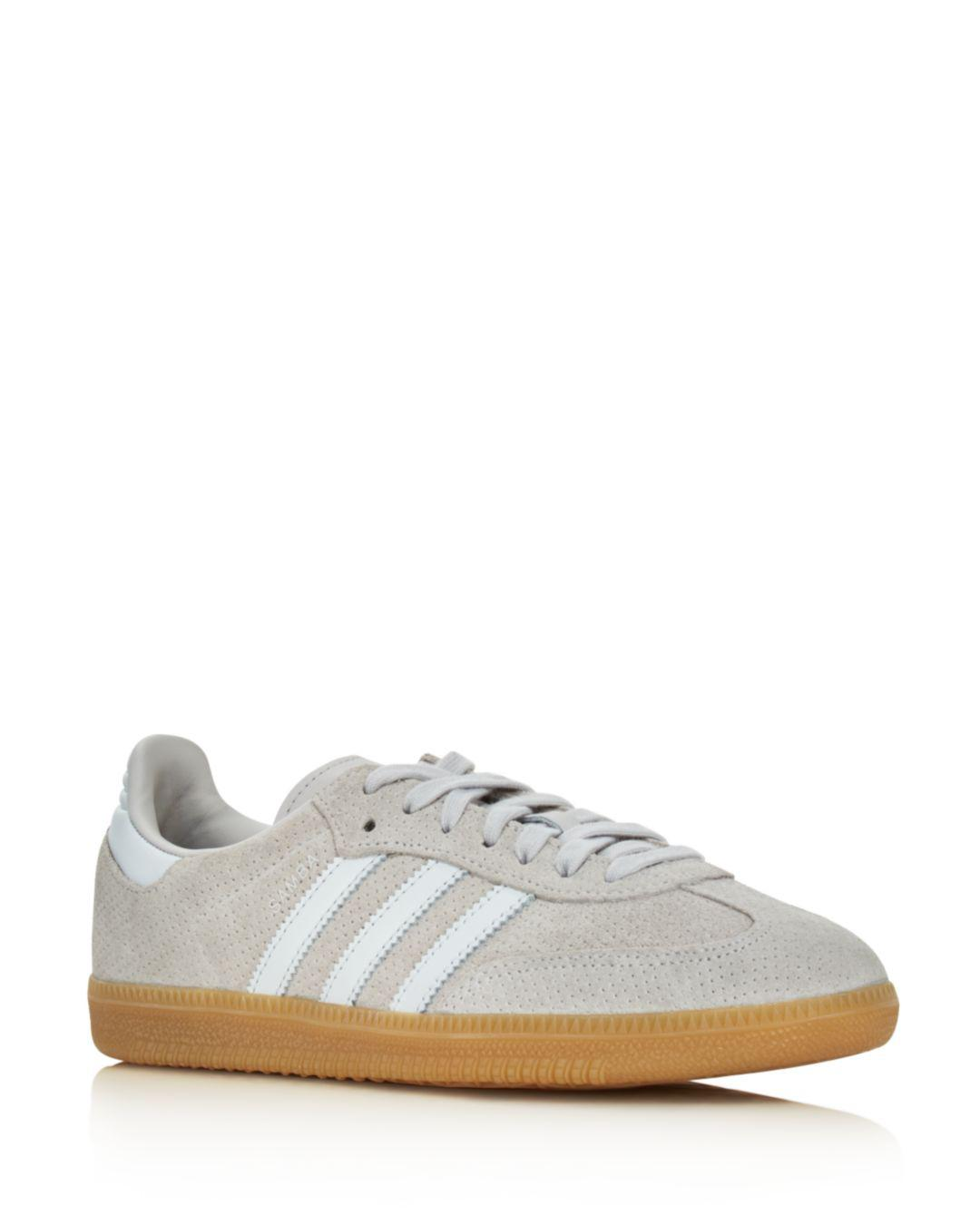 Lyst Mujeres Adidas Samba Suede Lace Up zapatos en gris