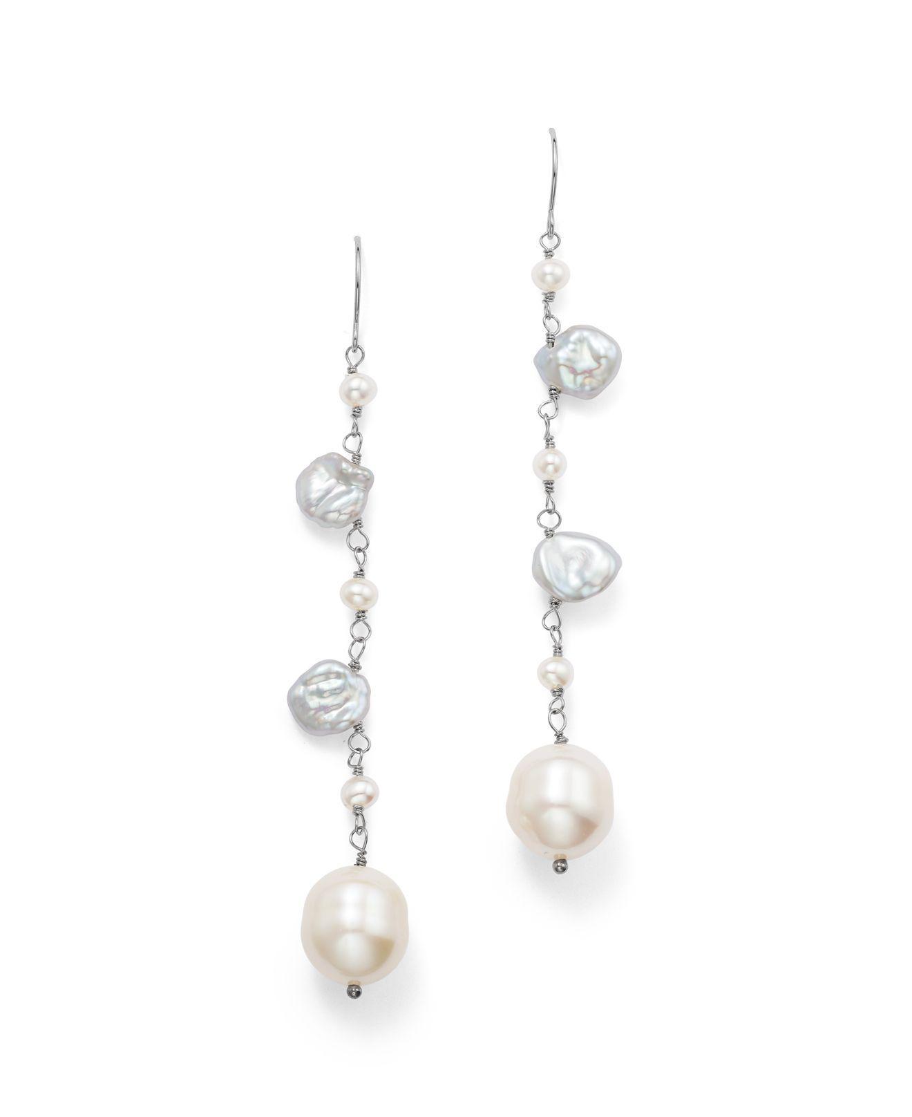 Mizuki Keshi pearl and diamond mono earring Ac6KKNt
