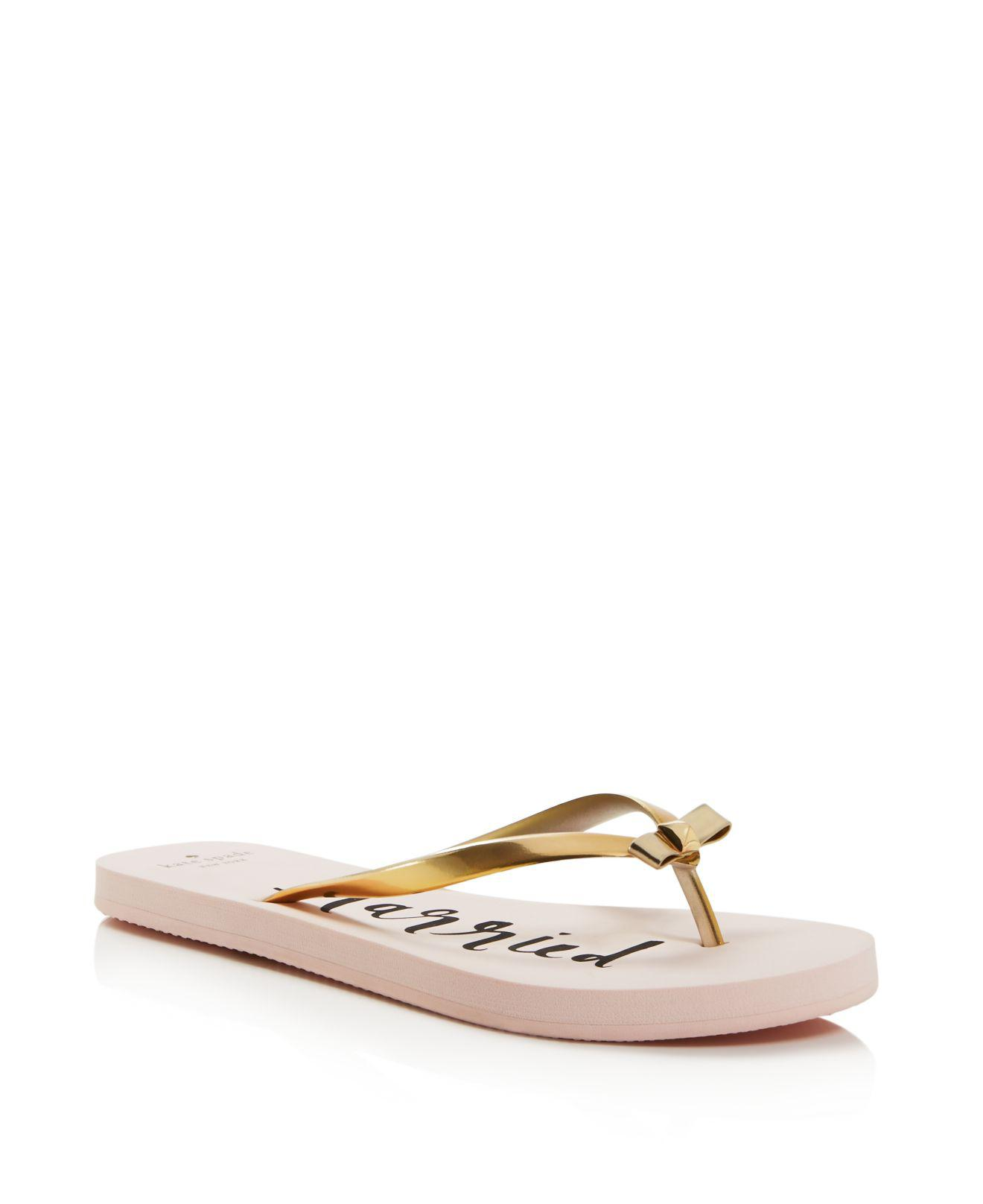 4ab6b64e9 Lyst - Kate Spade Nadine Just Married Flip-flops in Pink