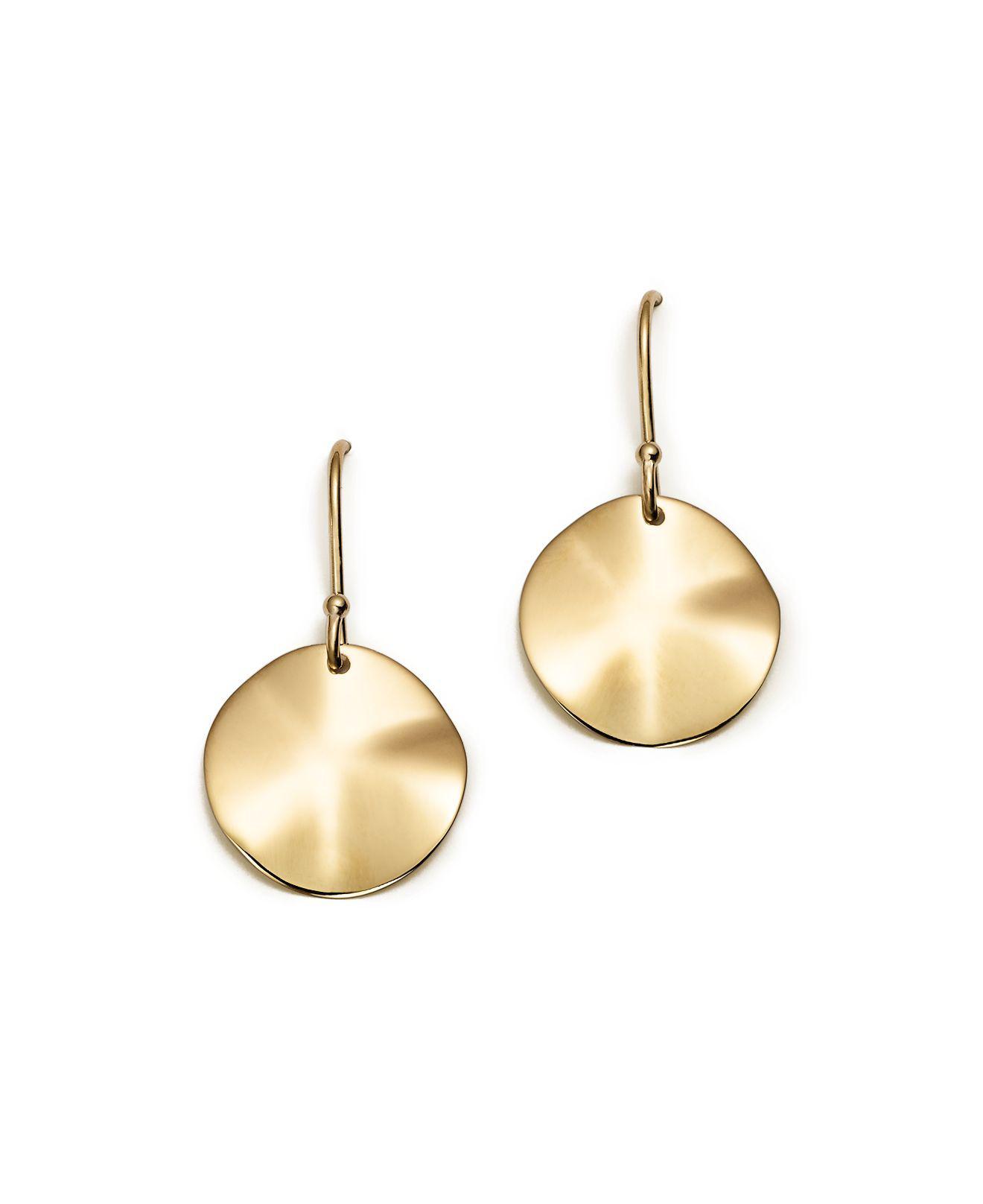 Ippolita 18K Gold Wavy Oval Earrings WmNJfrX