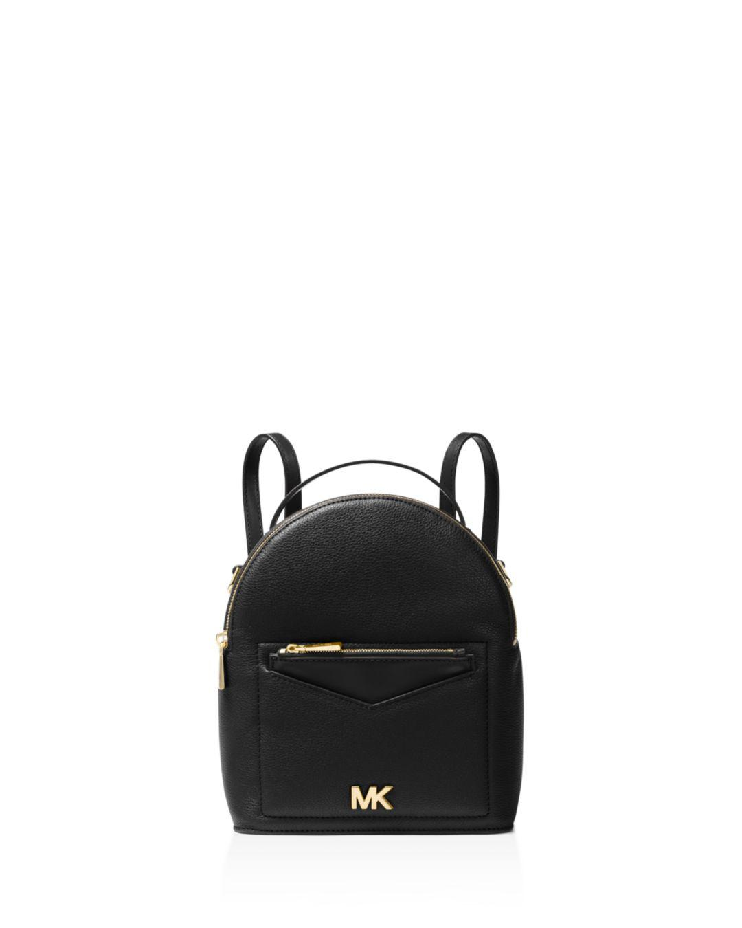 42c52f5118f1 MICHAEL Michael Kors. Women's Black Jessa Small Convertible Leather Backpack