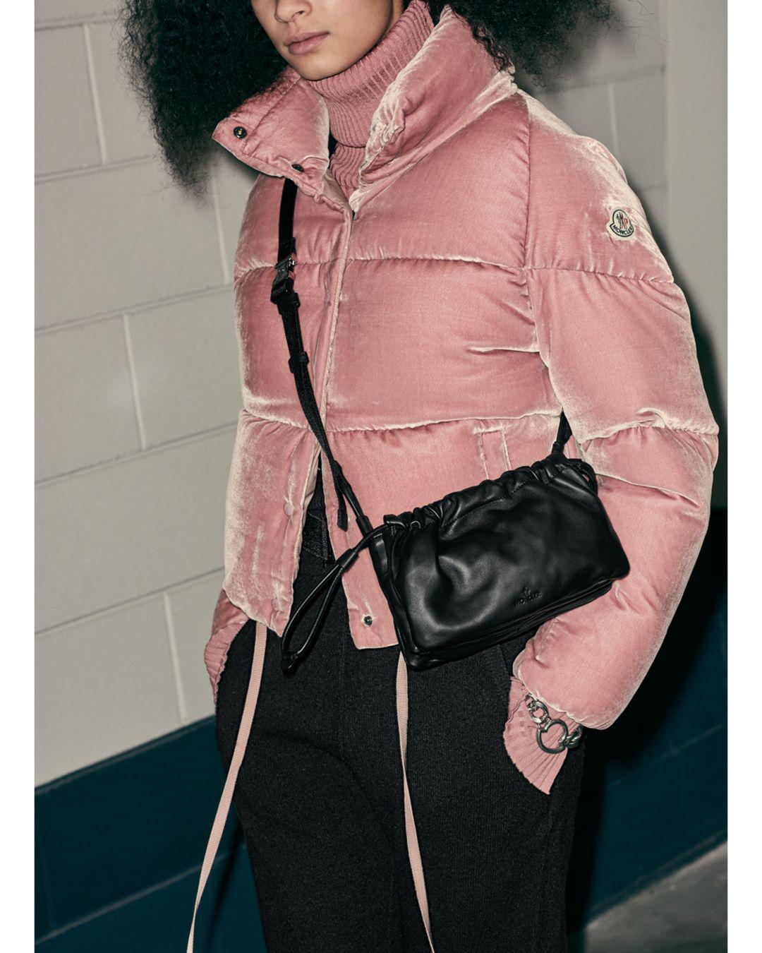 6c36c76e10 Moncler Cercis Velvet Down Coat in Pink - Lyst