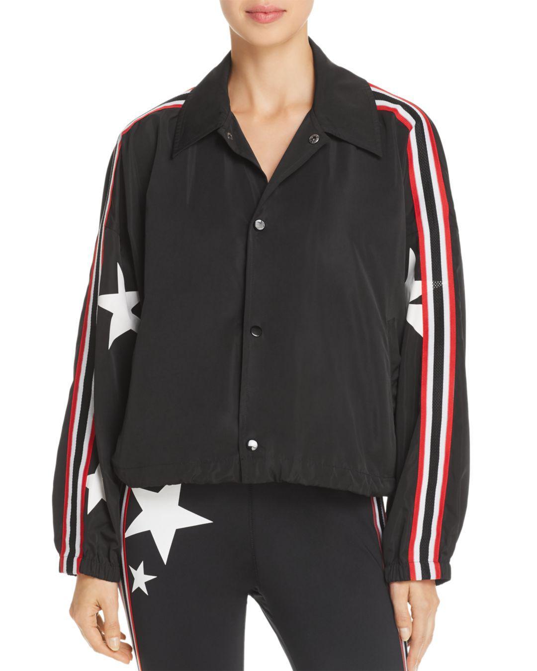 Lyst - Pam   Gela Star Track Jacket in Black 58847c622bfc5