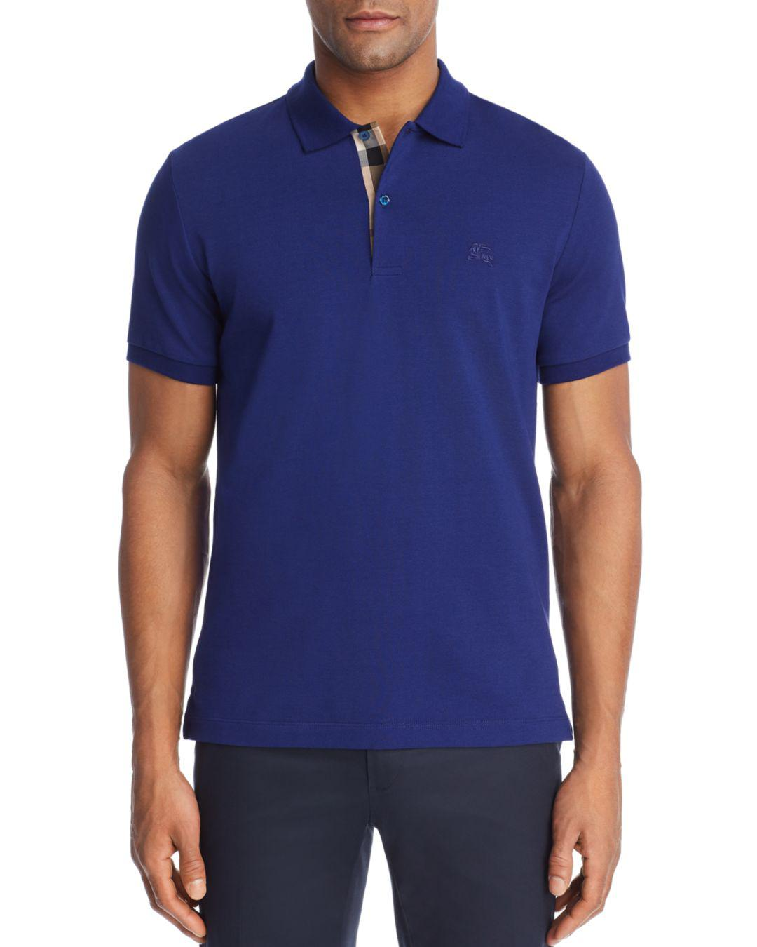 7b0f77fc6 Lyst - Burberry Regular Fit Polo Shirt in Blue for Men