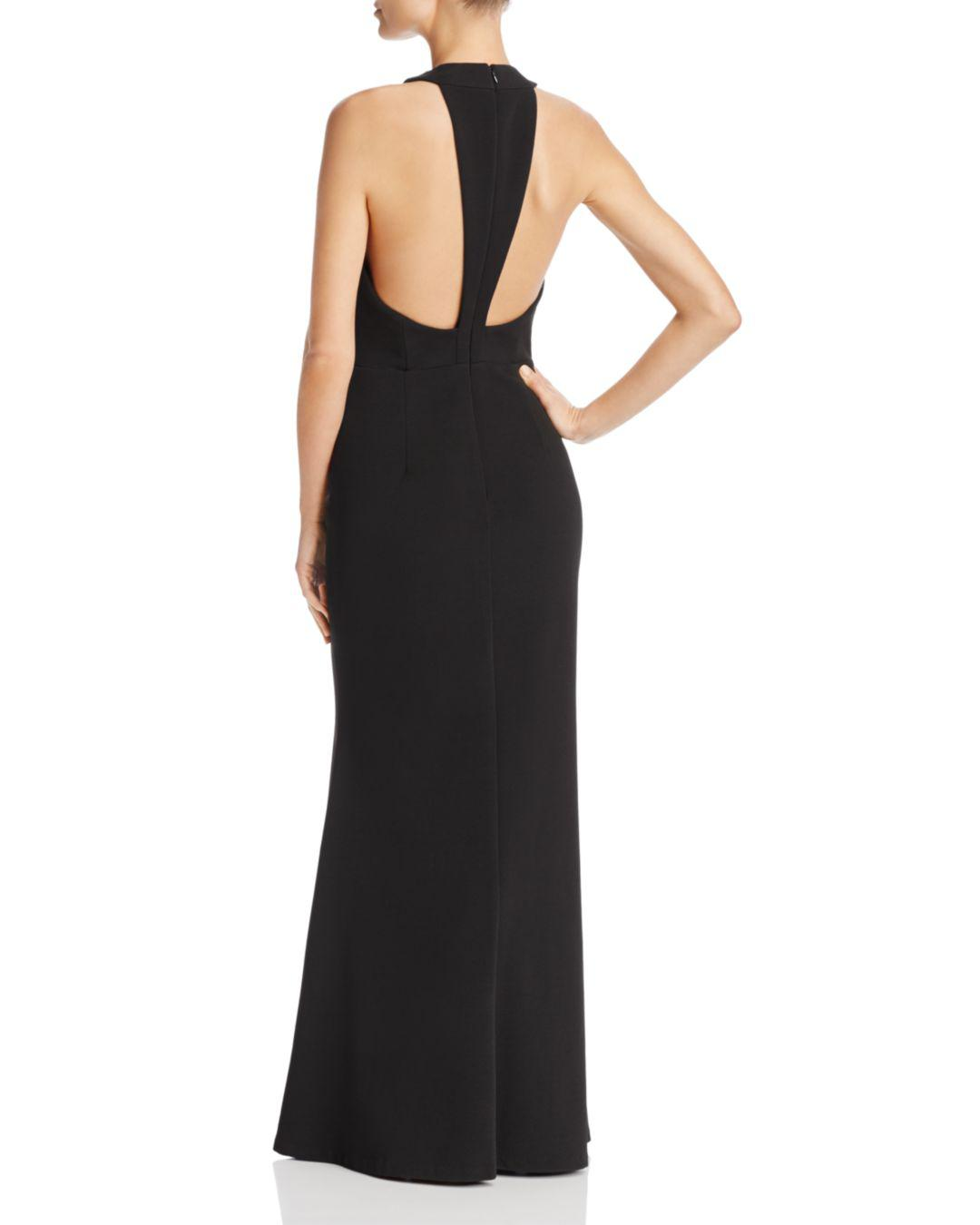 Js Collections Cross-front Gown in Black - Lyst