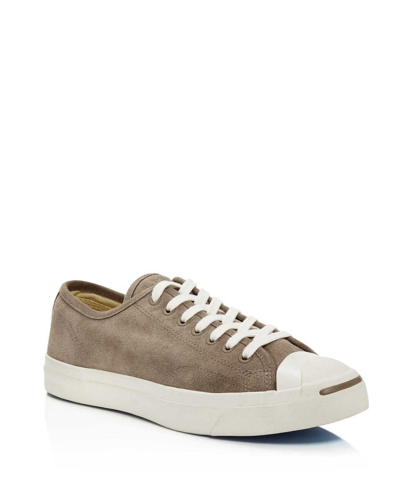 Converse Men's Jack Purcell Vintage Suede Lace Up Sneakers 8xWHOOk