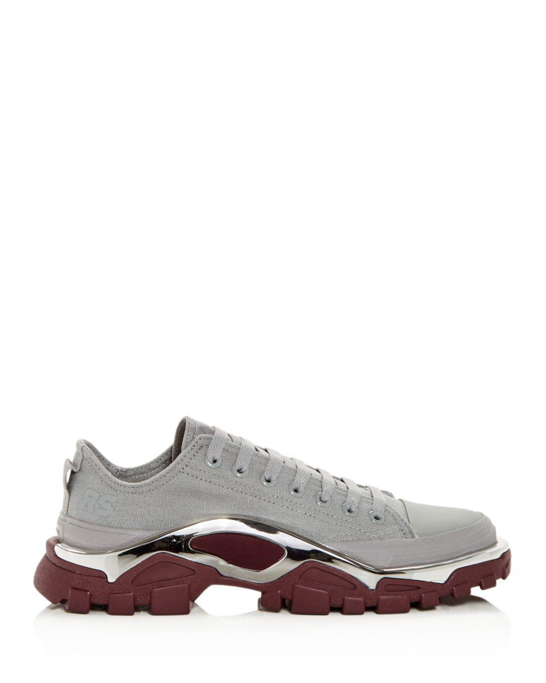 buy popular c576d 2b44d Adidas By Raf Simons Womens Rs Detroit Runner Lace Up Sneakers in Gray -  Lyst