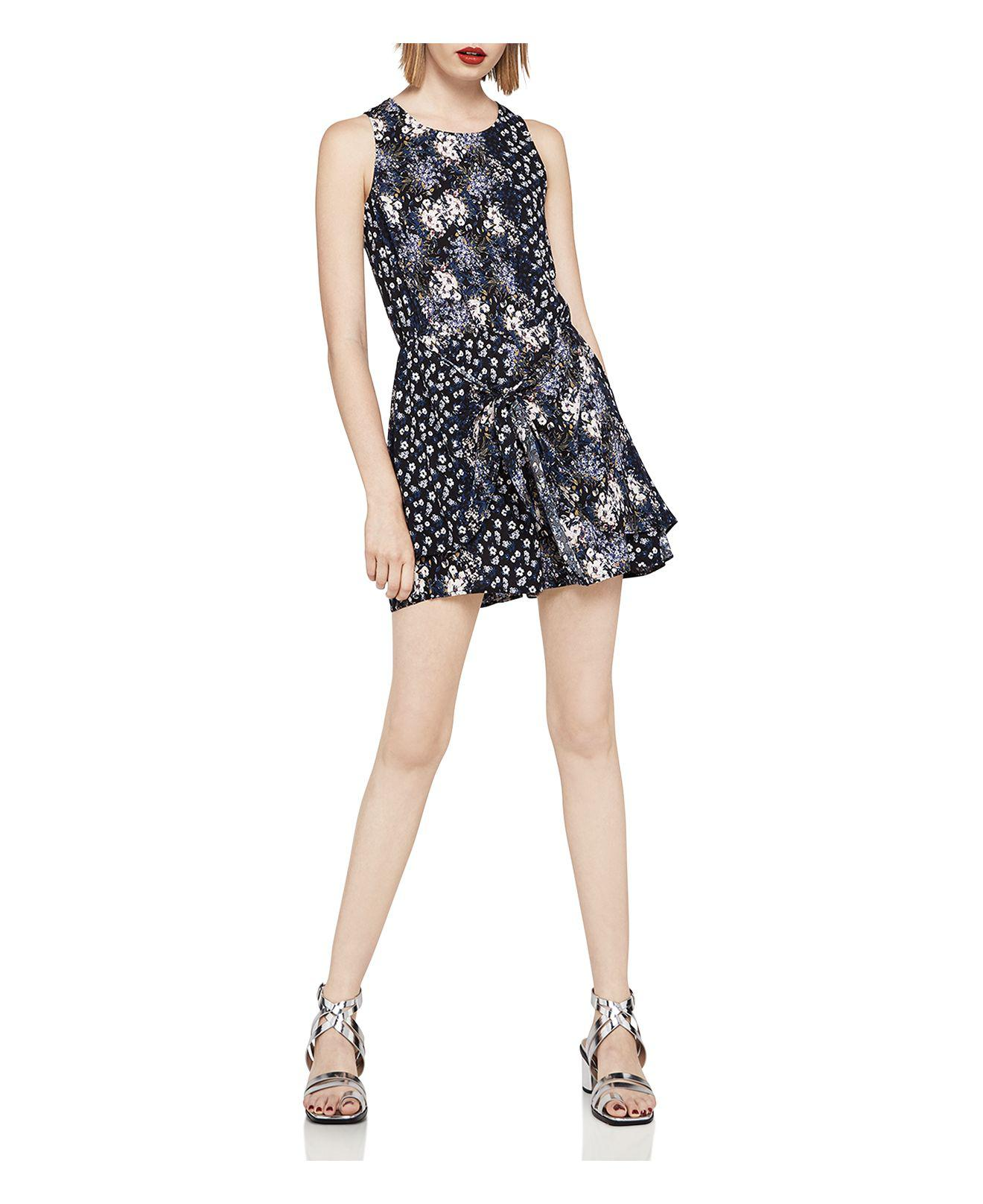 1f842ac524e Lyst - BCBGeneration Mixed Floral Tie-front Romper in Black