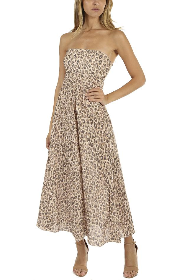 Zimmermann Melody Strapless Long Dress -