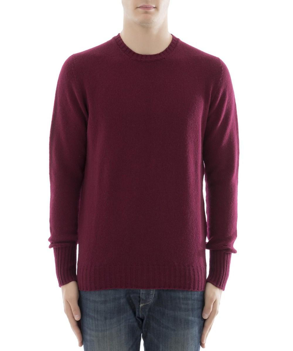Drumohr Men's Burgundy Cashmere Sweater in Red for Men | Lyst