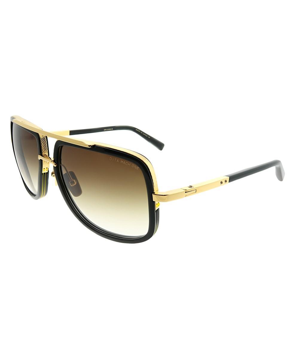 a553c0dd79a1 Lyst Sunglasses Aviator In Black Shiny Dita 18k Gold Mach One rraW7S