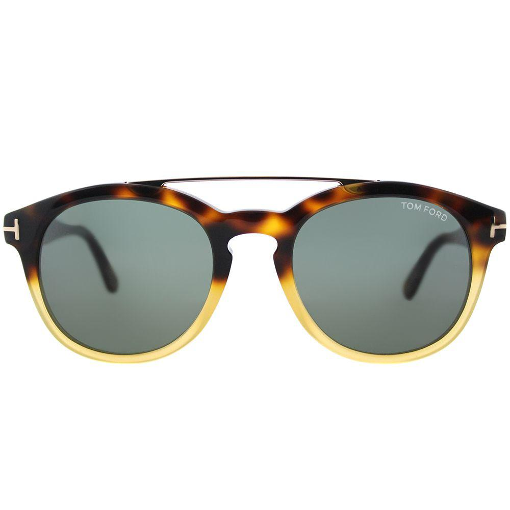 7058de4d4f Tom Ford - Multicolor Newman Tf 515 56n Havana Gradient Round Sunglasses -  Lyst. View fullscreen