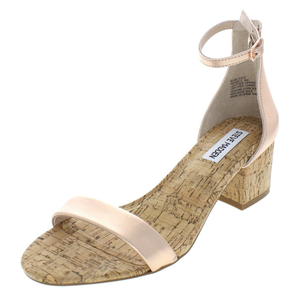 00f293262a Lyst - Steve Madden Womens Irenee-c Cork Dress Sandals in Metallic