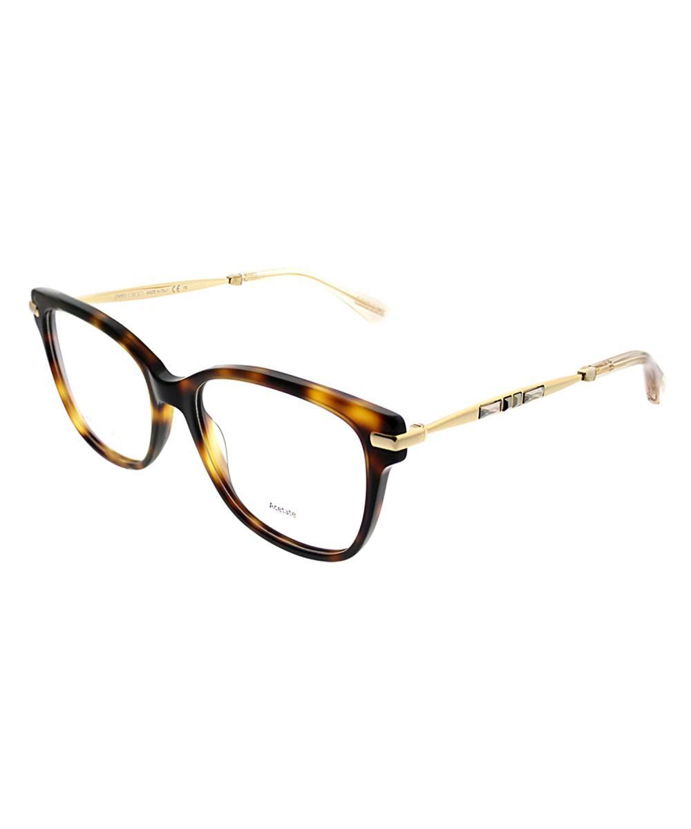 e12f562813b1 Lyst - Jimmy Choo Jc 181 14b Havana Rose Gold Cat-eye Eyeglasses in Pink