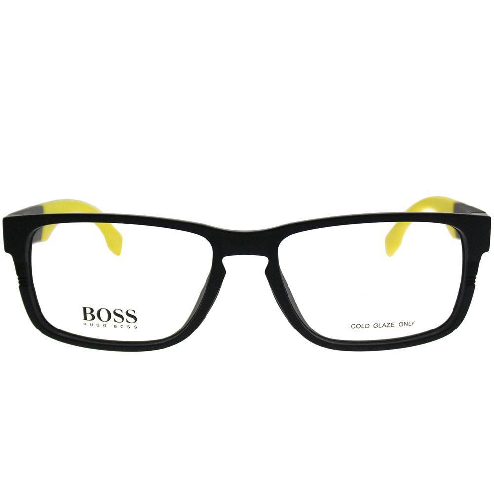 fe756fed99 ... Boss 0917 1xe 55mm Matte Black Yellow Rectangle Eyeglasses - Lyst. View  fullscreen