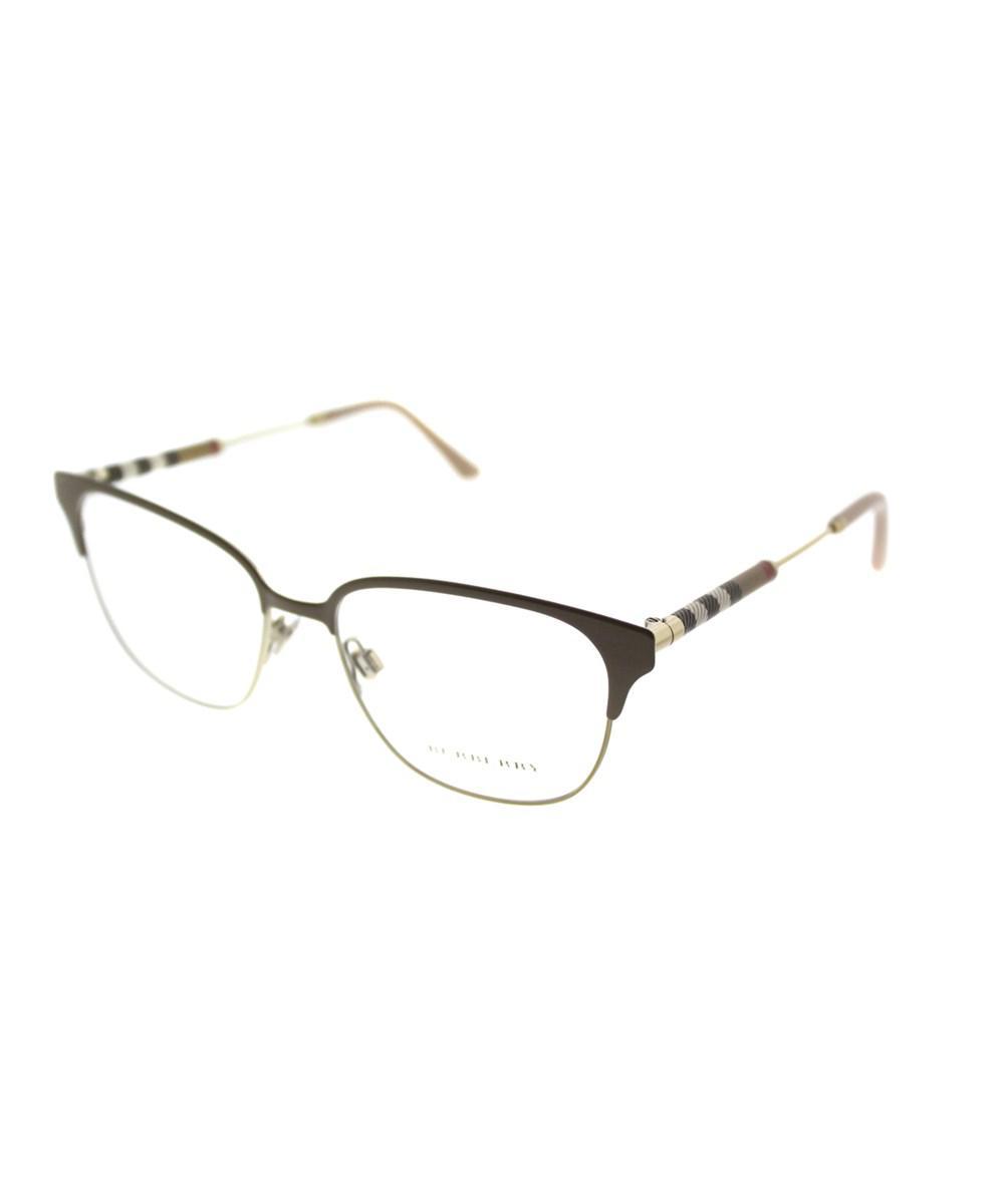 dbdffdd09298 Burberry 0be1313q 1239 53mm Brown/light Gold Square Eyeglasses in ...