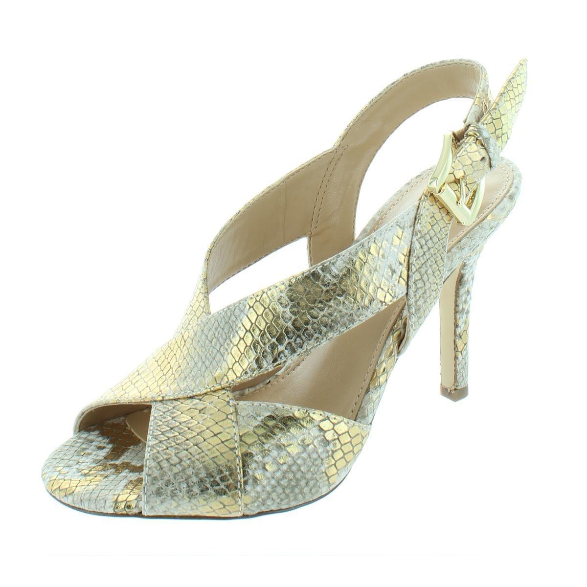 28215cb96d3 MICHAEL Michael Kors. Yellow Womens Becky Leather Metallic Dress Sandals