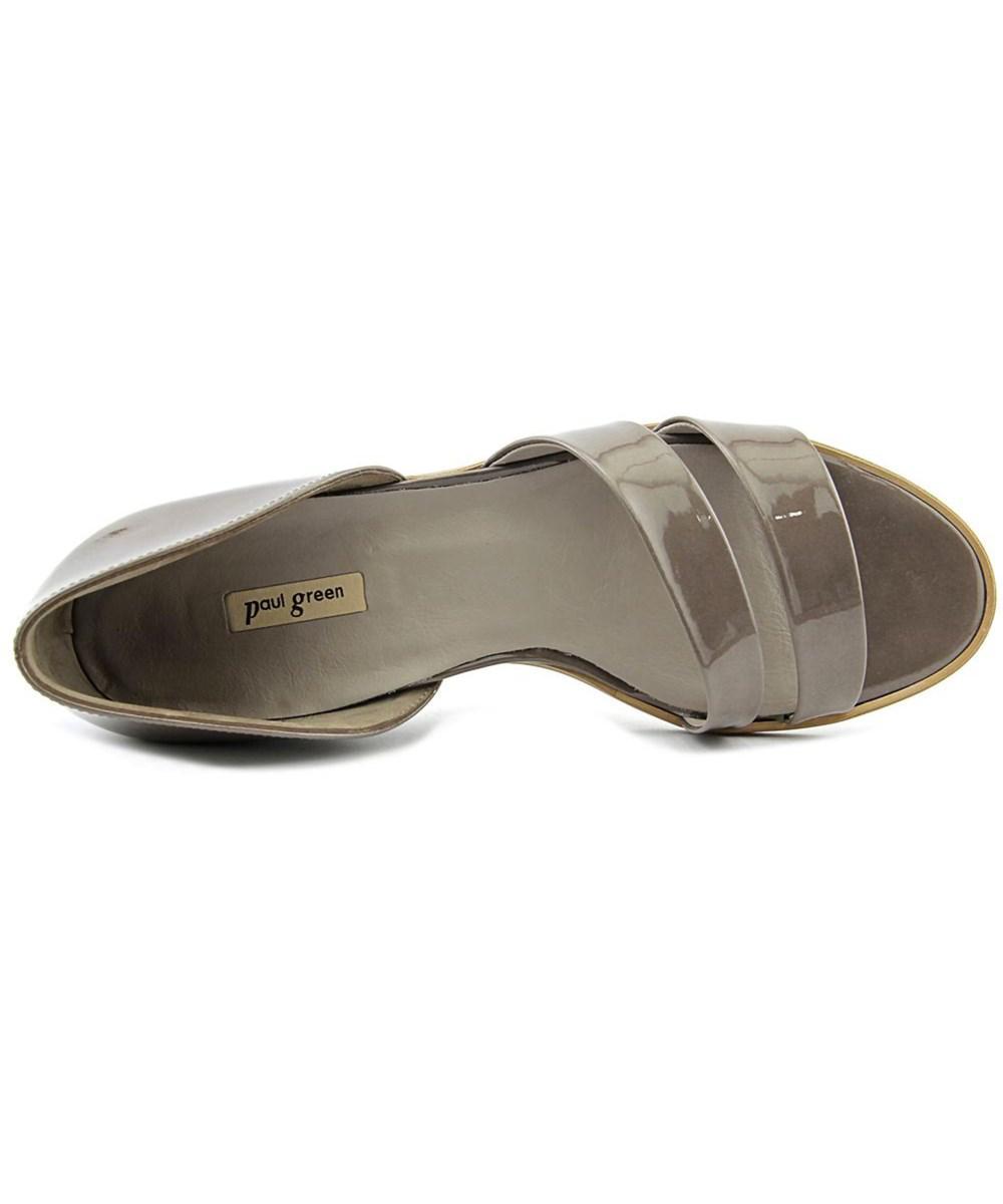 lyst paul green wynn open toe patent leather slides sandal