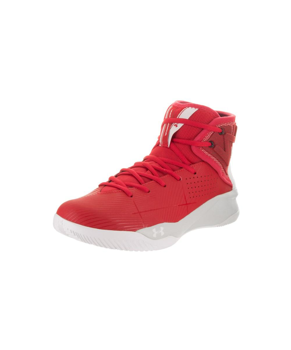 94ca6280ff2e Lyst - Under Armour Men s Rocket 2 Basketball Shoe in Red for Men