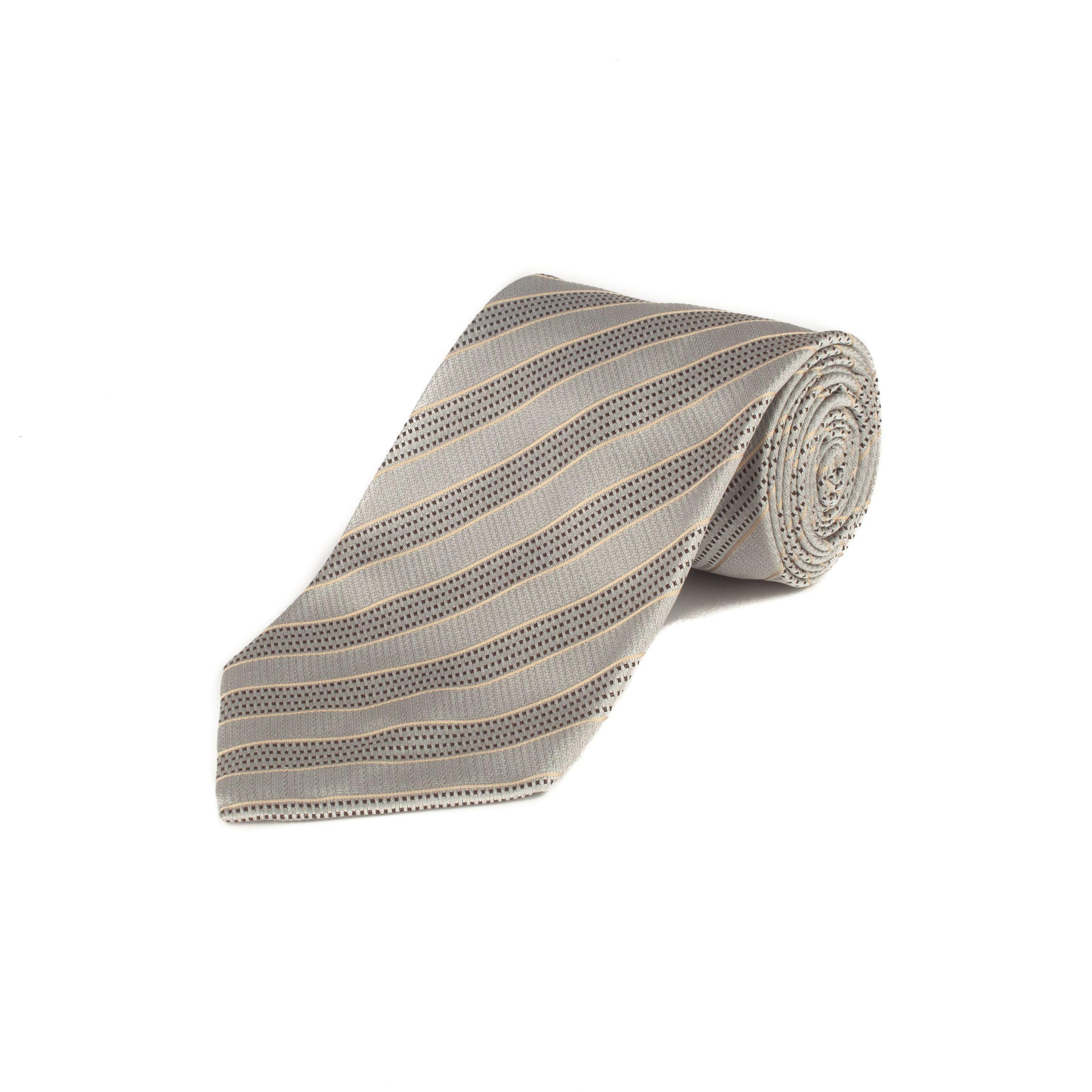 04ade813cef8 Lyst - Ermenegildo Zegna Couture Men's Silk Striped Tie Grey in Gray ...