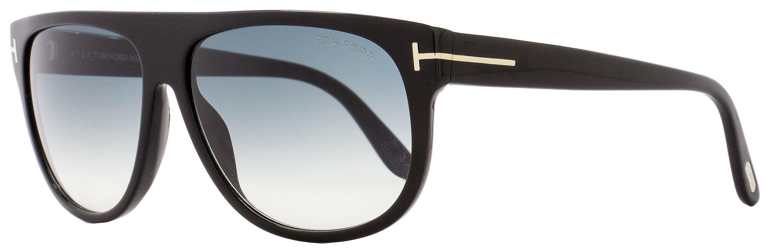 f937b95619 Lyst - Tom Ford Rectangular Sunglasses Tf375 Kristen 02n Shiny Black ...