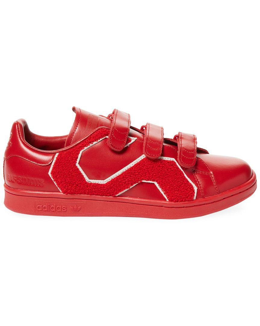 3415ff3af8f Lyst - Adidas By Raf Simons Rs Stan Smith Comfort Badge Low-top Sneaker in  Red for Men