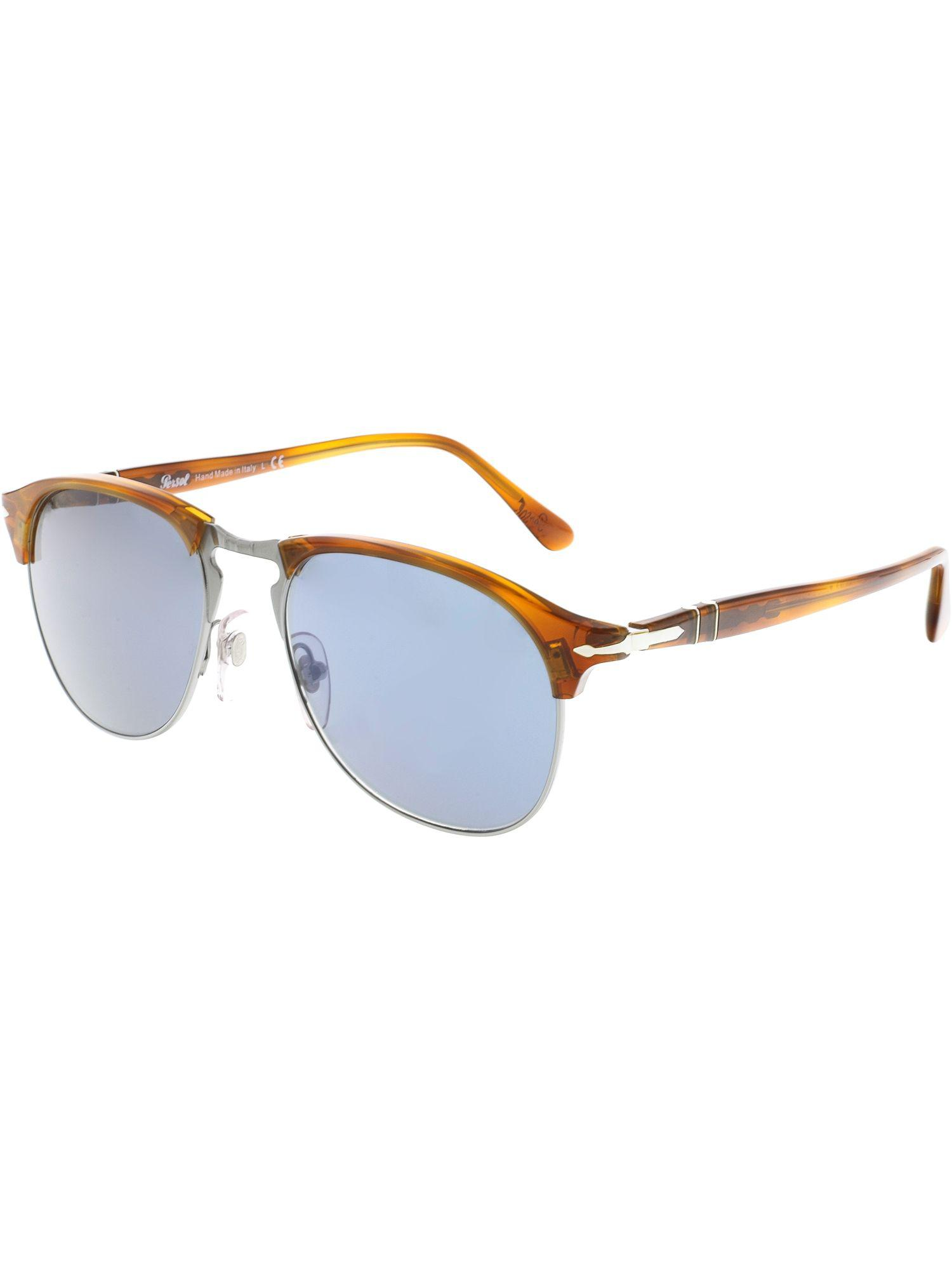 810a721d36 Lyst - Persol Men s Mirrored Po8649s-96 56-53 Brown Oval Sunglasses ...