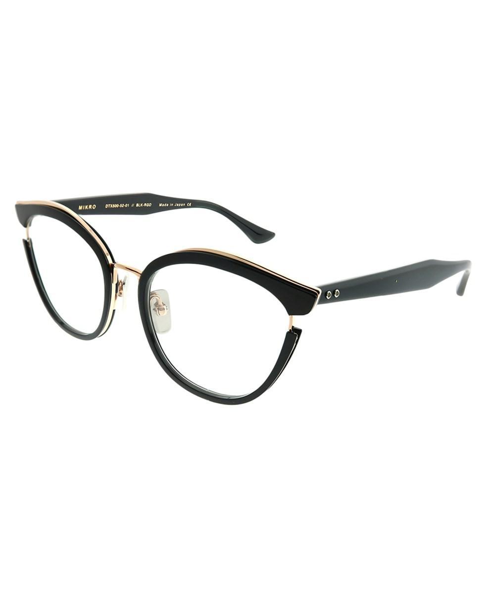 dc401fc40c53 Lyst - Dita Mikro Black - Rose Gold Round Sunglasses in Black