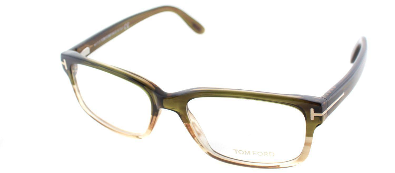 bab6130a31e Tom Ford - Ft5313 098 Dark Green Square Eyeglasses - Lyst. View fullscreen